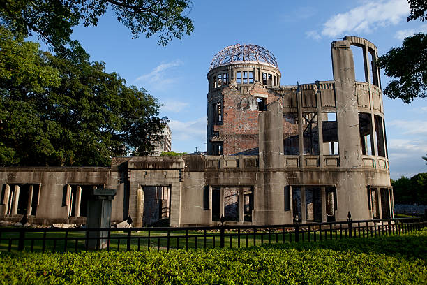 hiroszima genbaku a-bomb dome (home). - hiroshima zdjęcia i obrazy z banku zdjęć