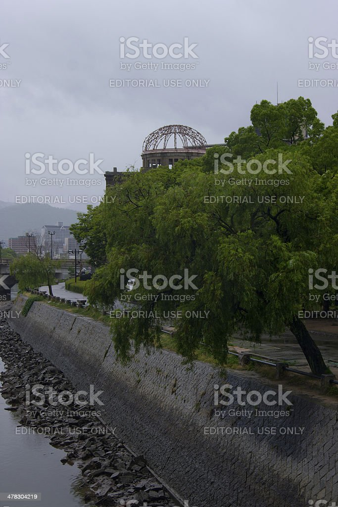 Hiroshima a-bomb dome. stock photo
