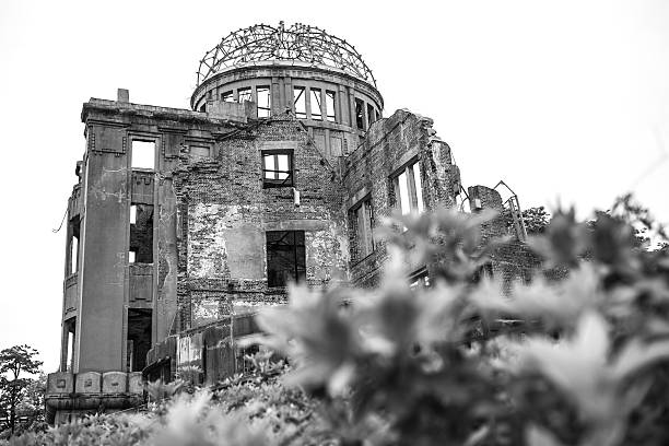 Hiroshima Atom Bomb Dome memorial in Japan Hiroshima Atom Bomb Dome memorial in Japan hiroshima prefecture stock pictures, royalty-free photos & images