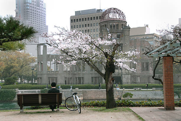 Hiroshima Decades After the Bomb stock photo