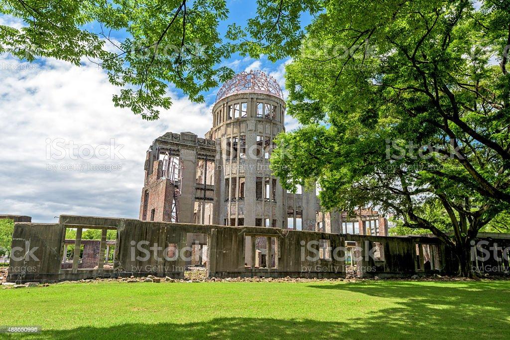Hiroshima Japan Peace Dome and park stock photo
