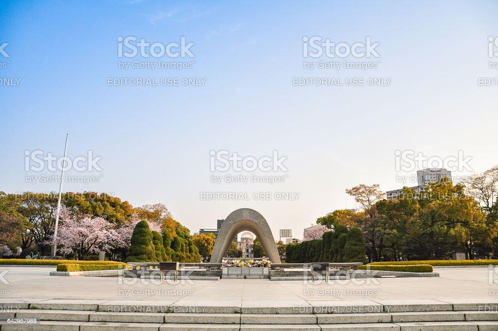 Hiroshima Peace Memorial garden stock photo