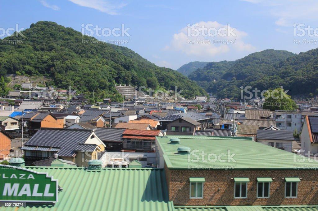 Hiroshima, the view from the train window stock photo