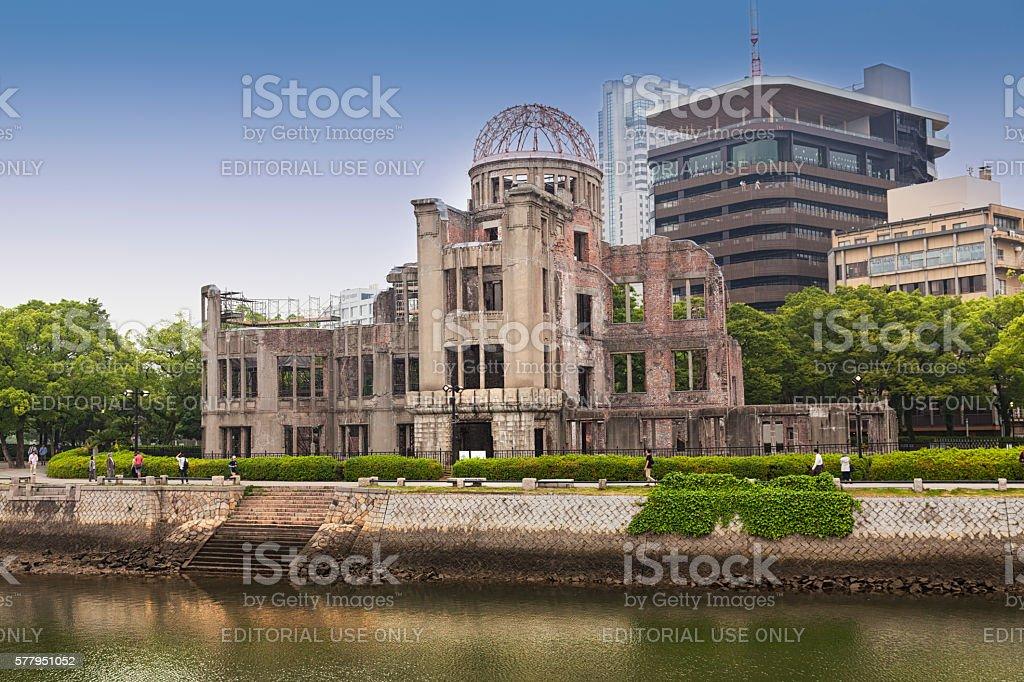 Hiroshima, View on the atomic bomb dome stock photo