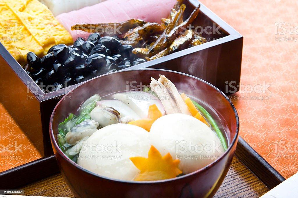 Hiroshima-style rice cake stock photo