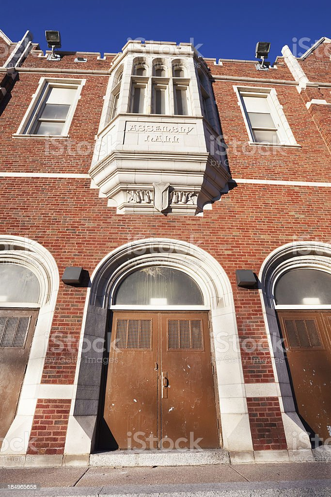 Hirsch Metro High School in Greater Grand Crossing, Chicago royalty-free stock photo