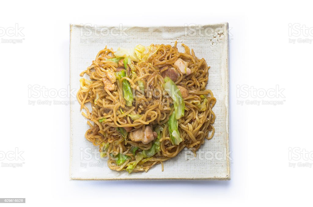 Hiruzen yakisoba Okayama prefecture regional cuisine/Japan stock photo