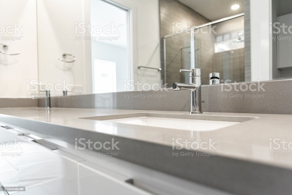 His And Hers Newly Remodeled Bathroom Vanity Stock Photo Download Image Now Istock