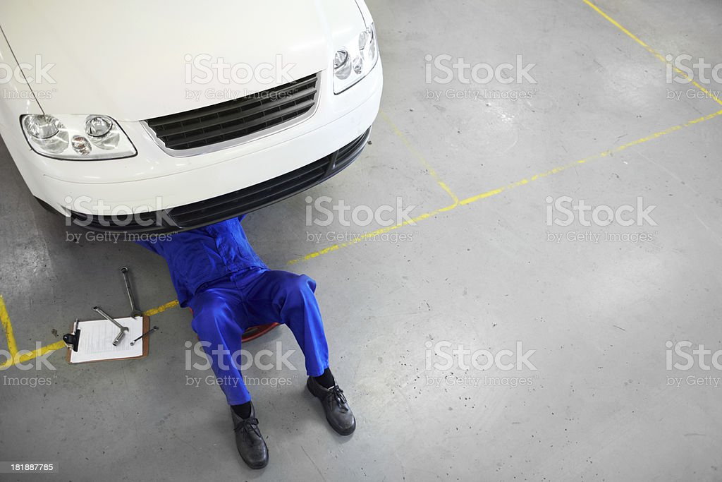 His autoshop has an impeccable reputation stock photo