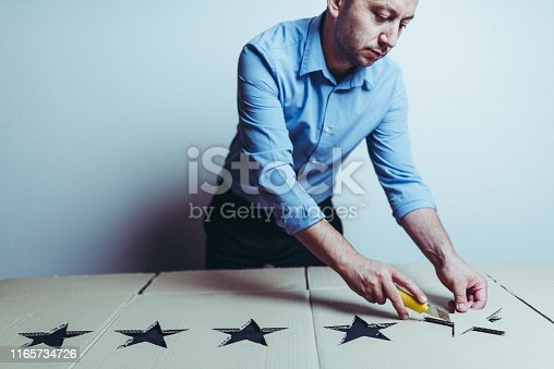 istock His business is succesful only if the customers are satisfied 1165734726