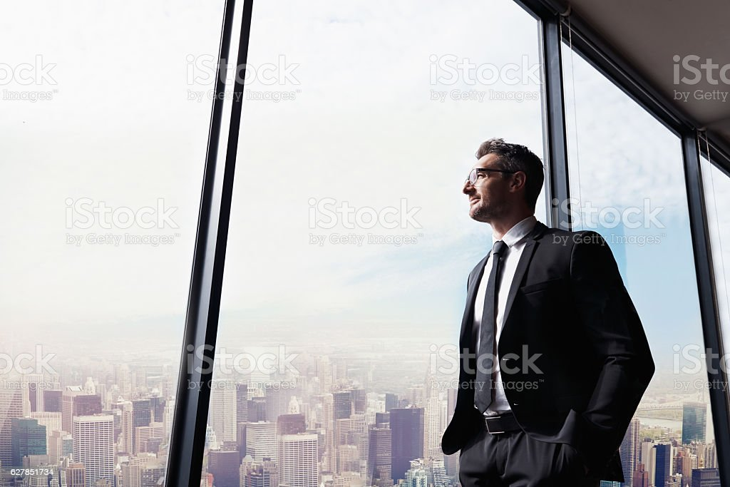 His city, his business stock photo
