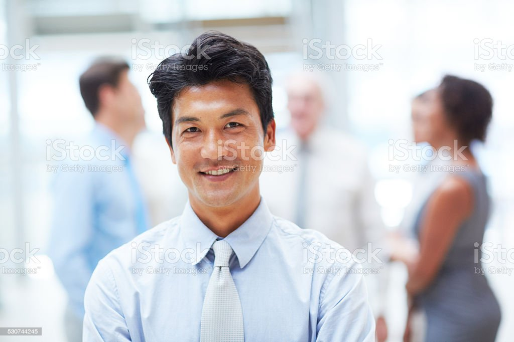 His confidence goes a long way stock photo