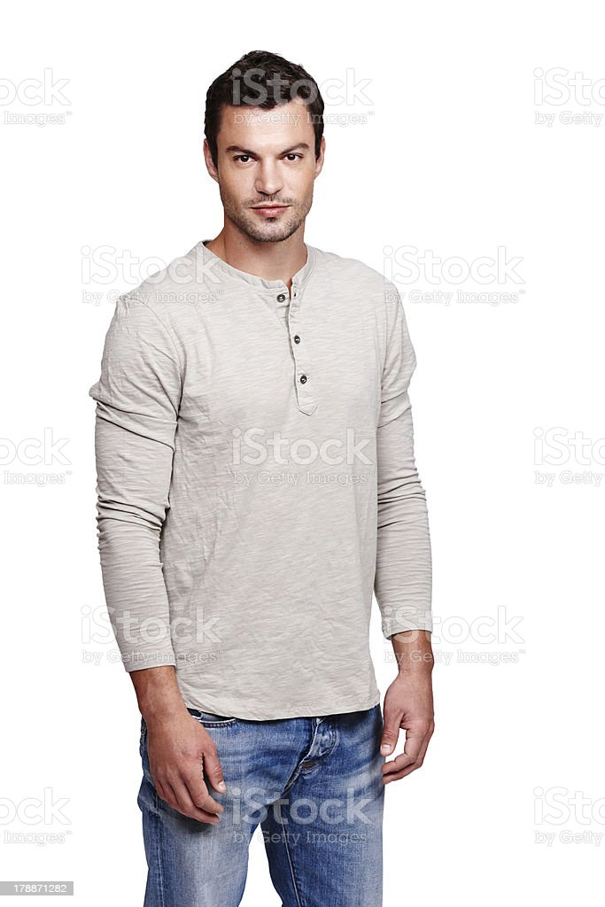 His confidence is easy to spot royalty-free stock photo