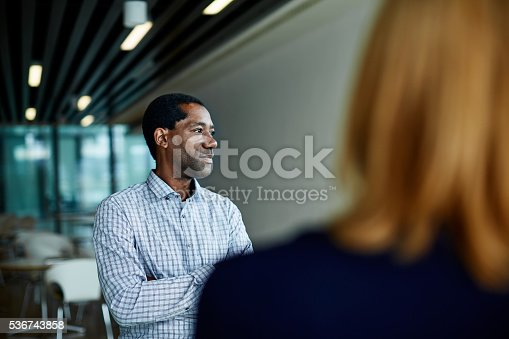 istock His coworkers respect his opinions 536743858