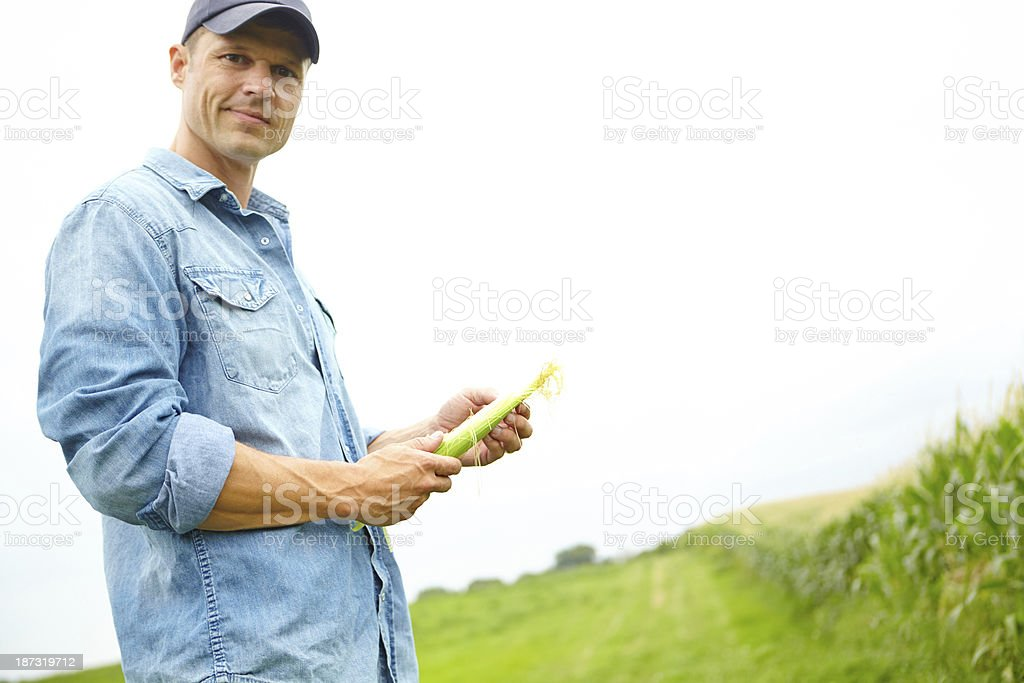 His crops are only the very best! royalty-free stock photo