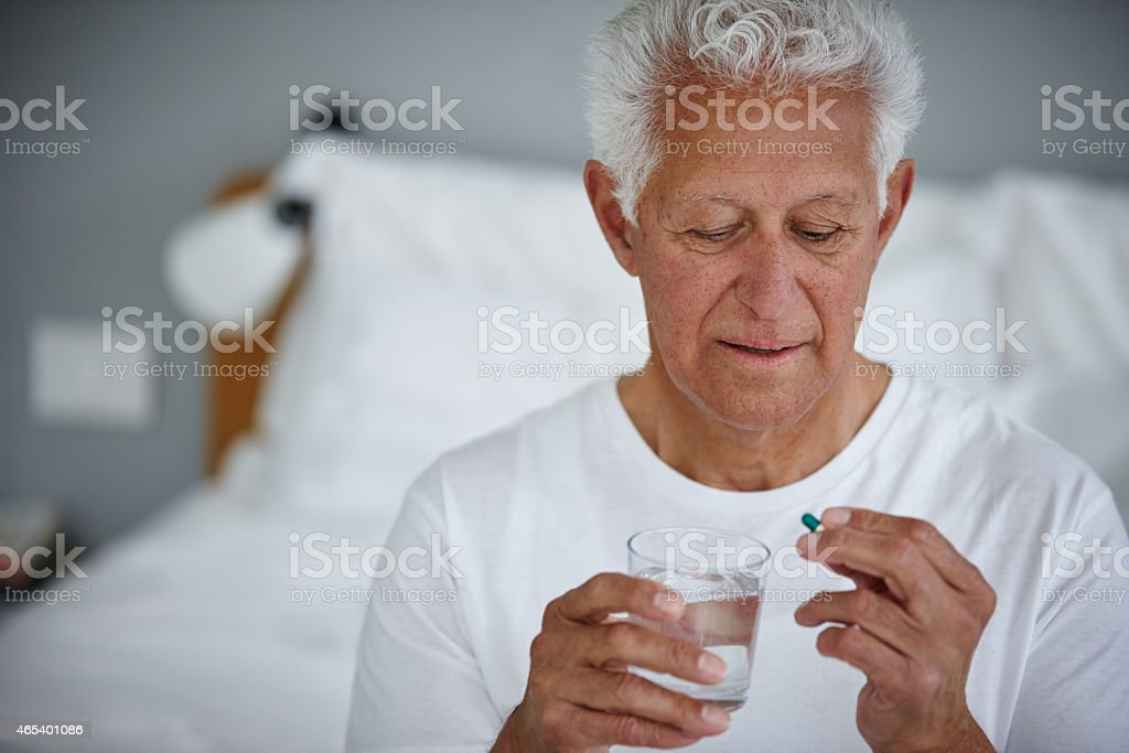 His daily essentials stock photo