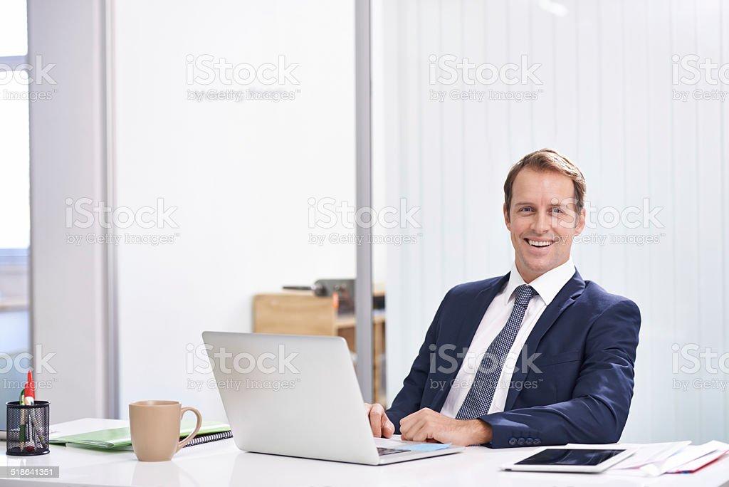 His door is always open stock photo