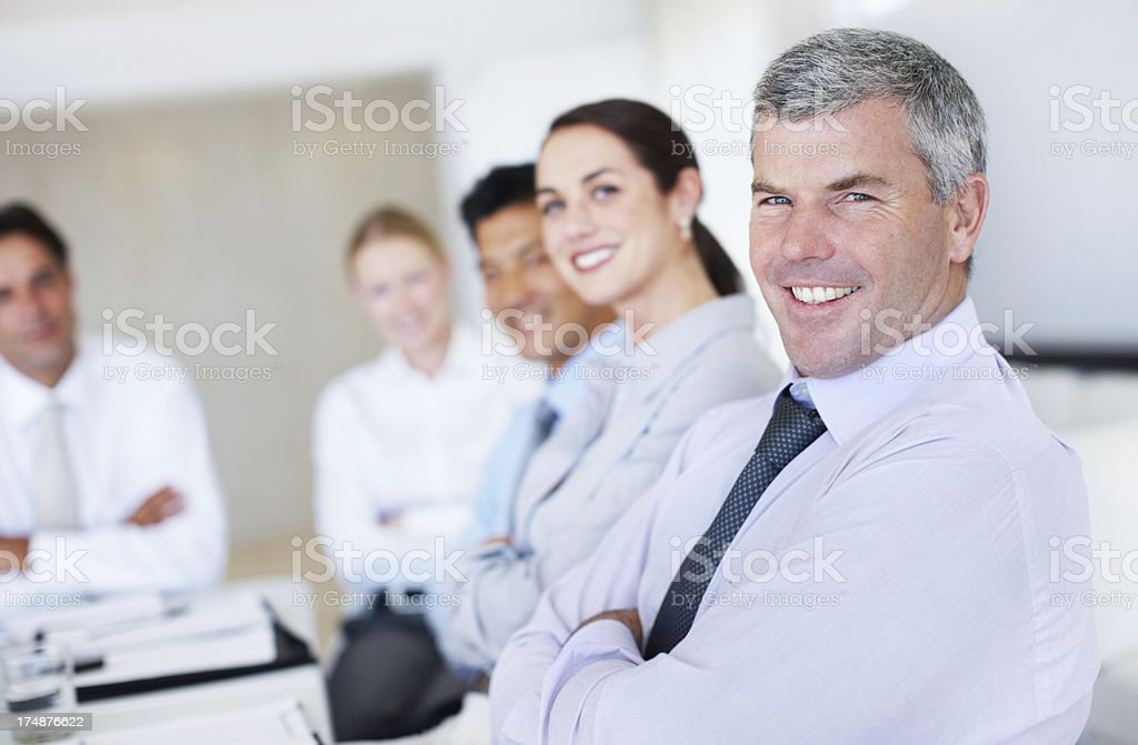 His experience lifts the whole team royalty-free stock photo