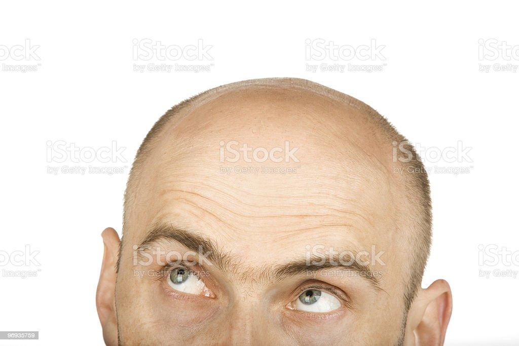 His eyes went up in dispair royalty-free stock photo