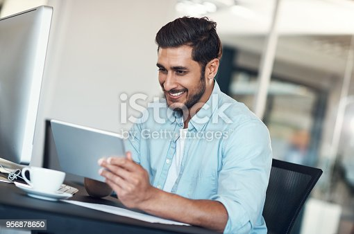874813790 istock photo His go to gadget for running an efficient business 956878650