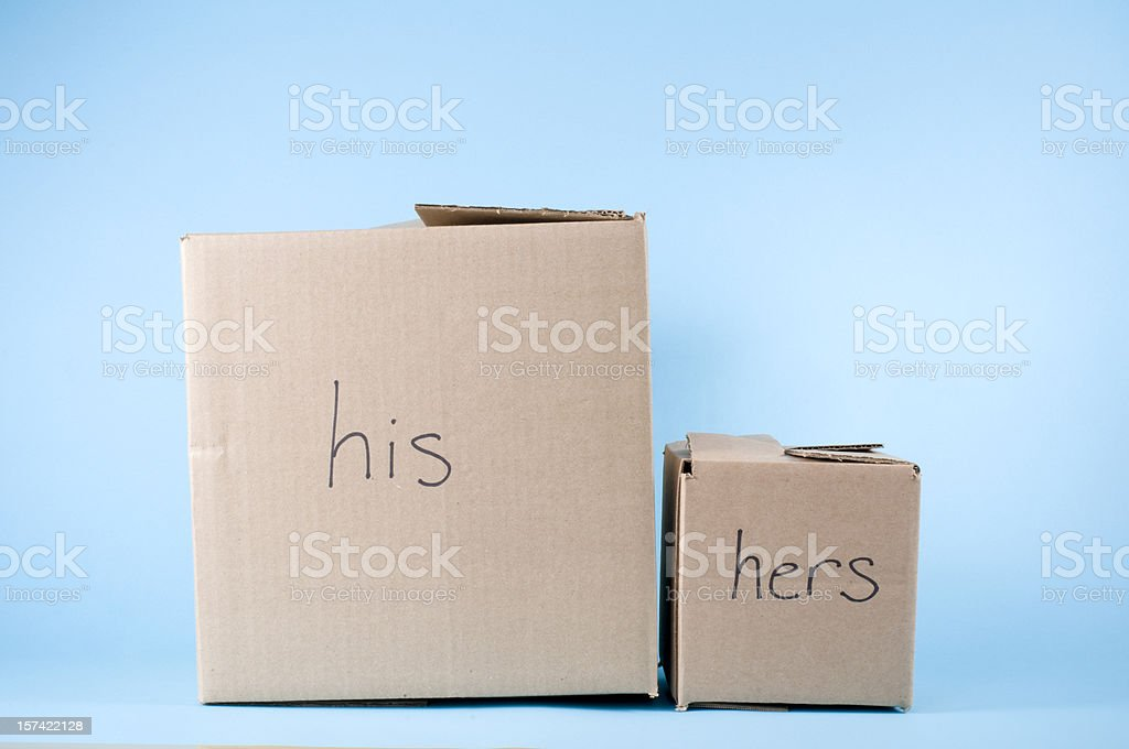His, Hers Concept stock photo