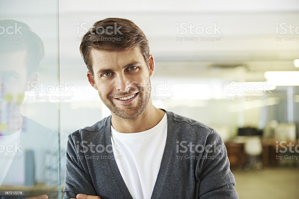 His ideas are brilliant royalty-free stock photo