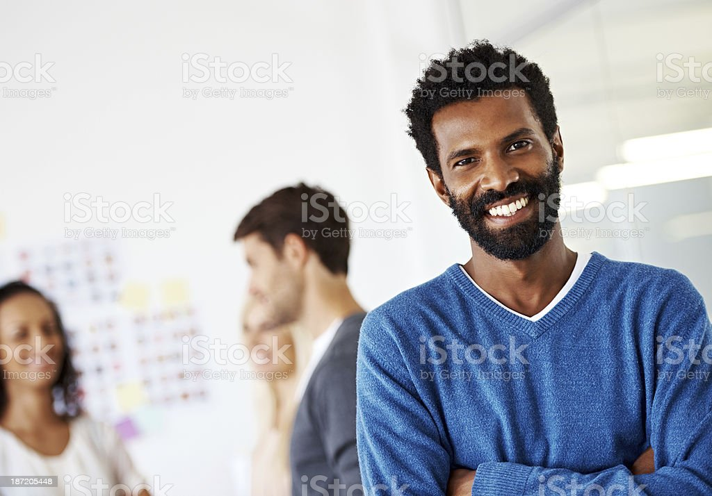 His ideas are trend setting royalty-free stock photo