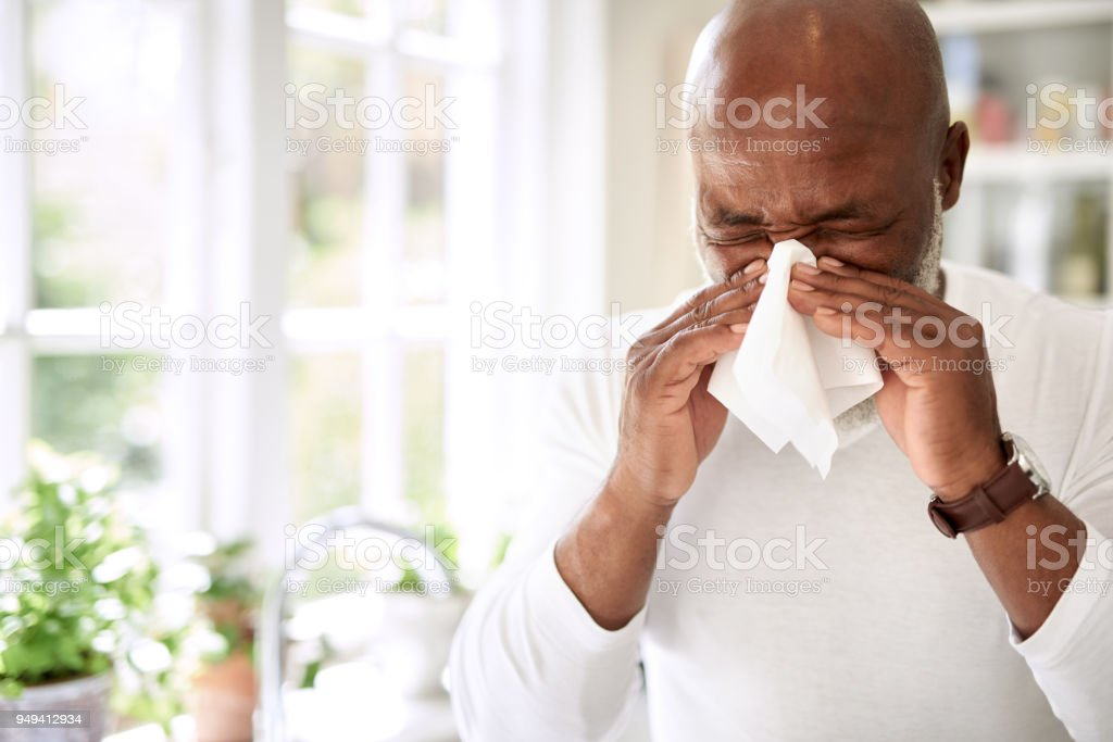 His immune system could use a boost stock photo