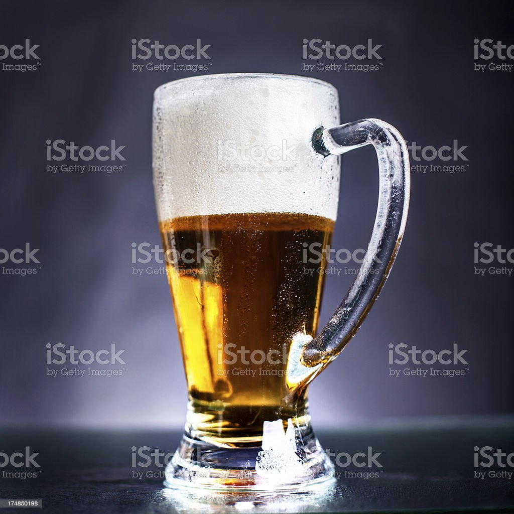 His majesty the beer! royalty-free stock photo