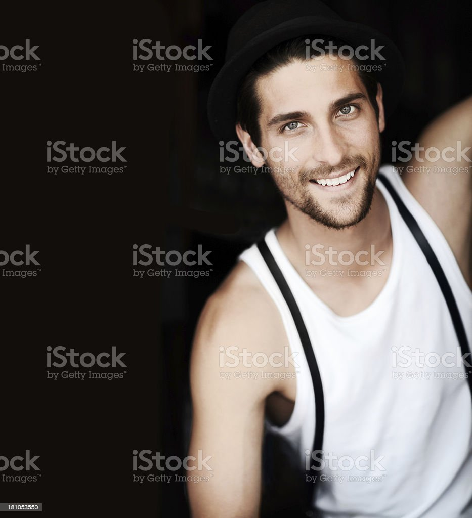 His smile is a great asset royalty-free stock photo