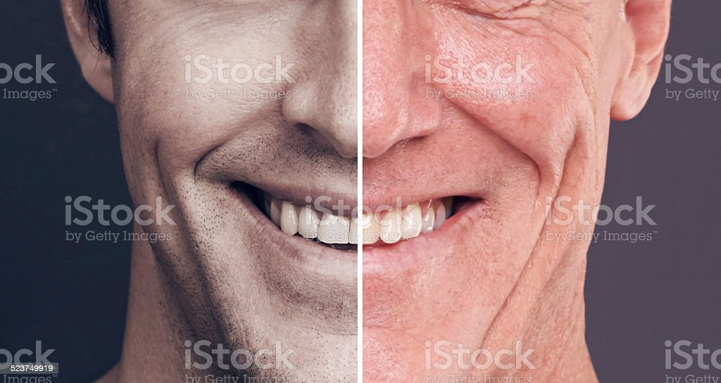 His smile never fades stock photo