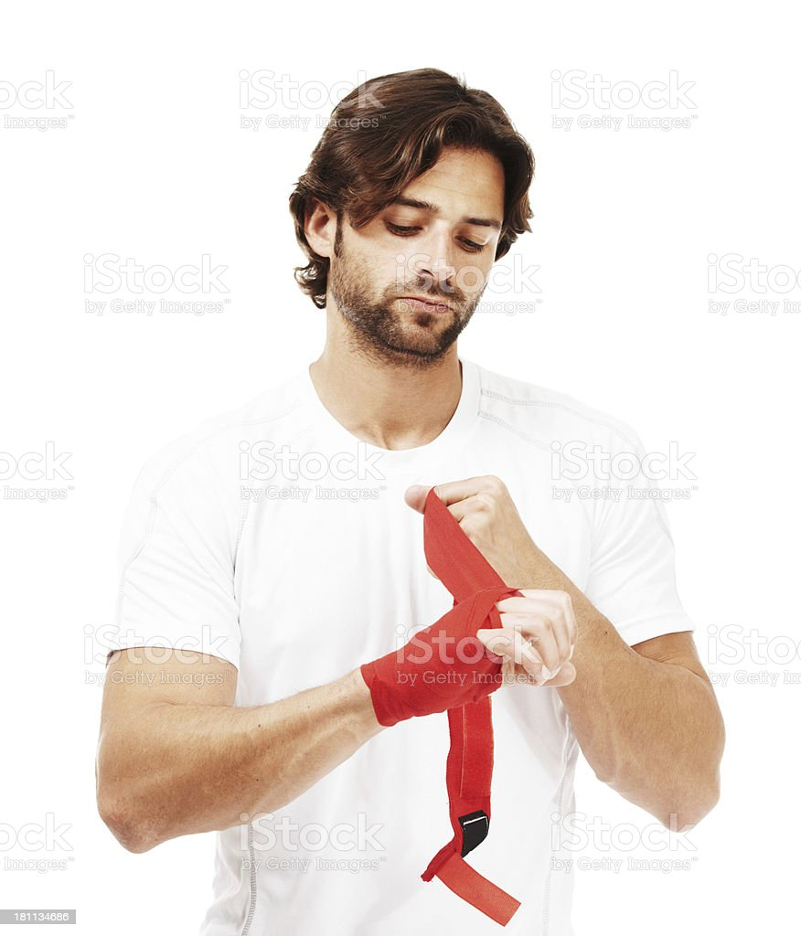 His strong self belief will win him this fight royalty-free stock photo