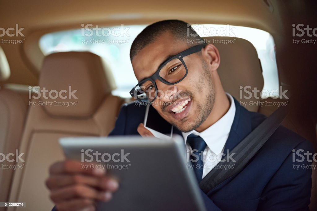 His time managing skills are awesome stock photo