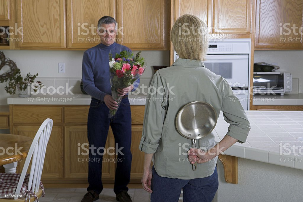 His Troubles stock photo