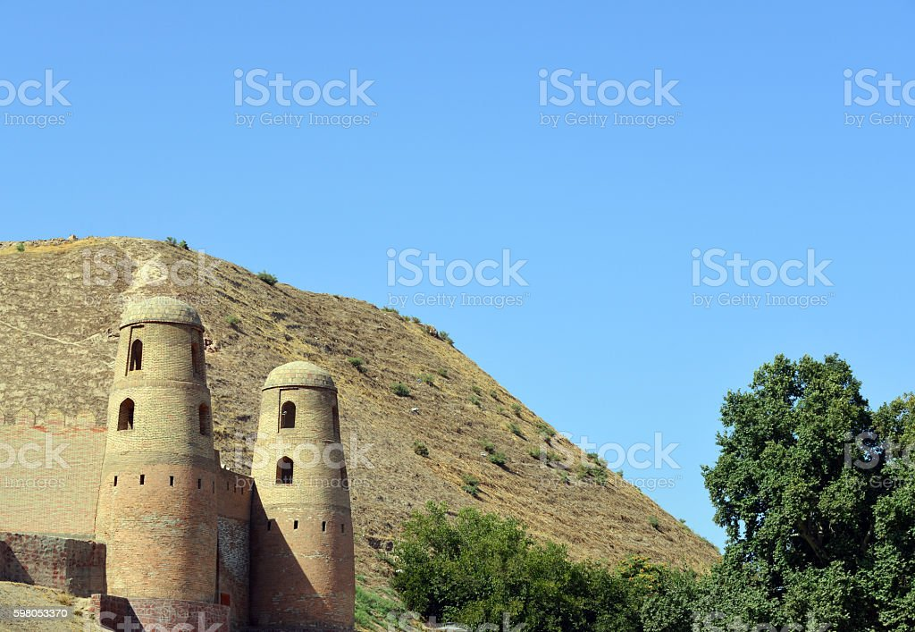 Hisor fortress main gate, Tajikistan stock photo