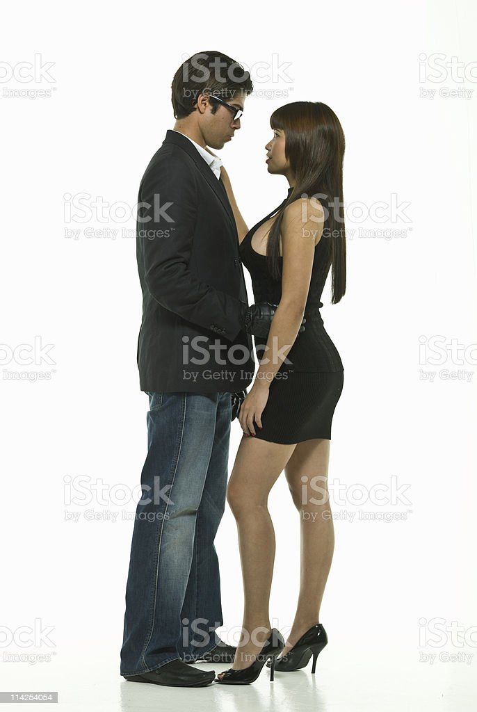 Hispanic asian couple stock photo royalty-free stock photo