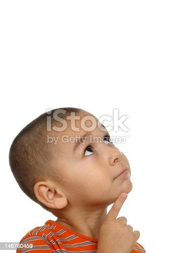 istock Hispanic boy looking up in wonder 4 years old 146760459