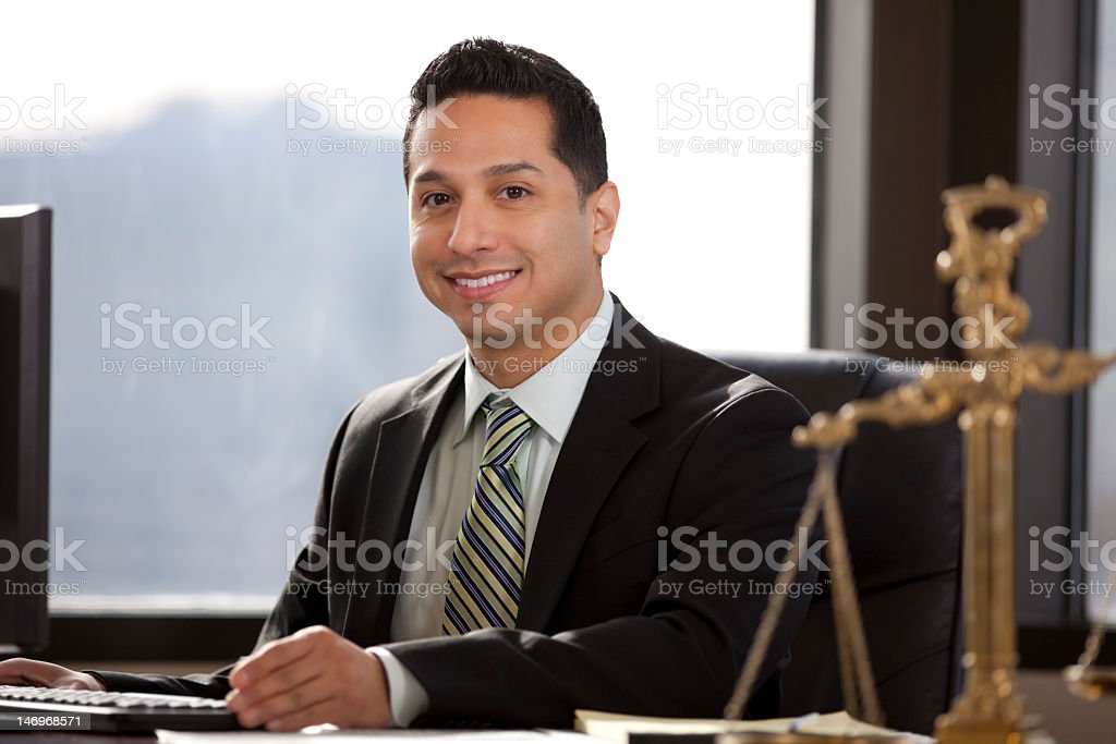Hispanic Business Man In Office royalty-free stock photo