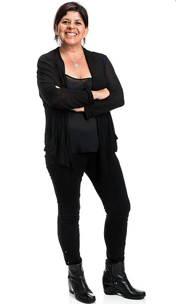 hispanic business frau - damen hosen für mollige stock-fotos und bilder
