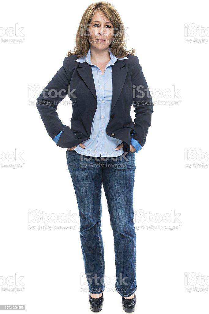 Hispanic business woman royalty-free stock photo