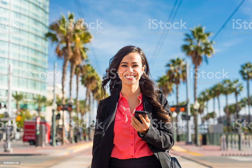 Hispanic Business Women Walking Downtown San Diego - Photo