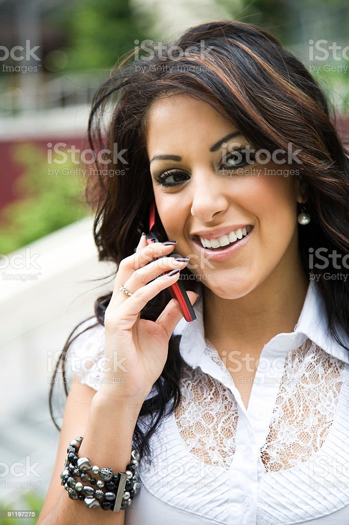 Hispanic businesswoman on the phone royalty-free stock photo