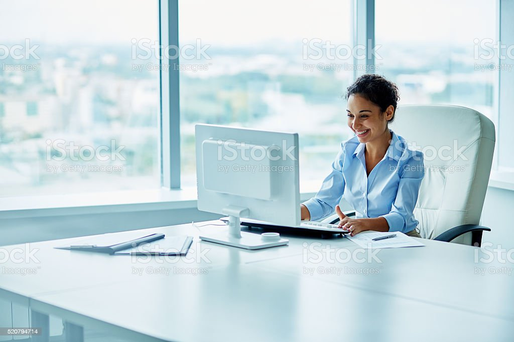 Hispanic businesswoman stock photo