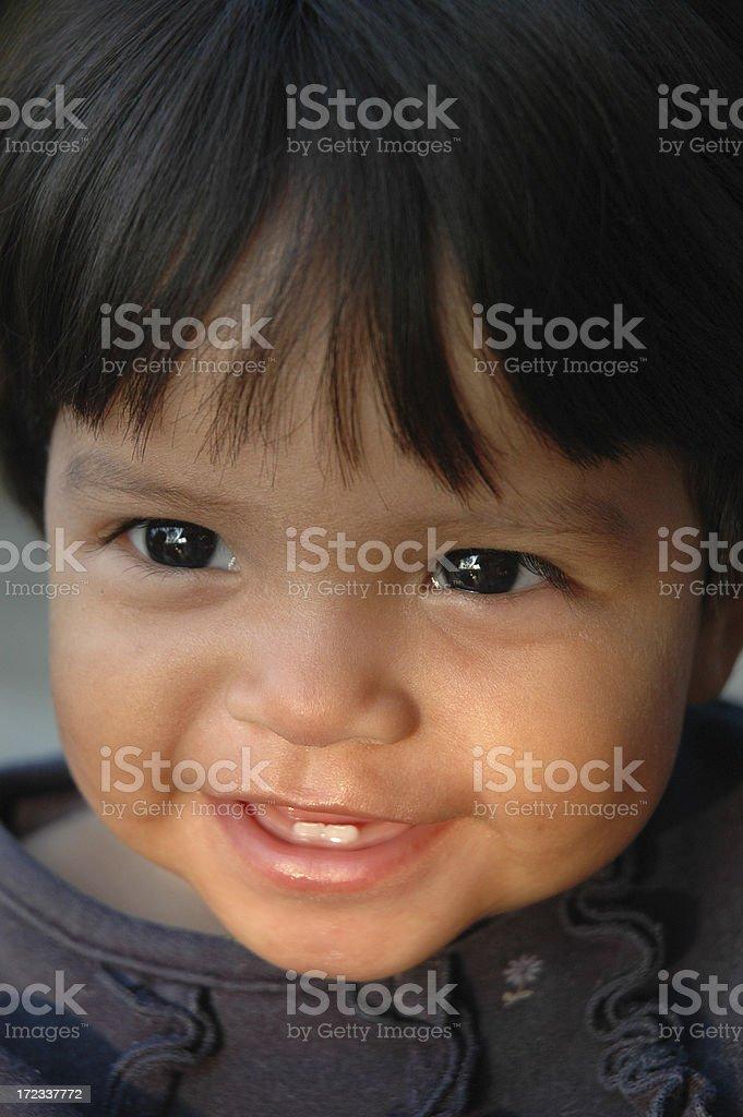 Hispanic Child Smiling stock photo