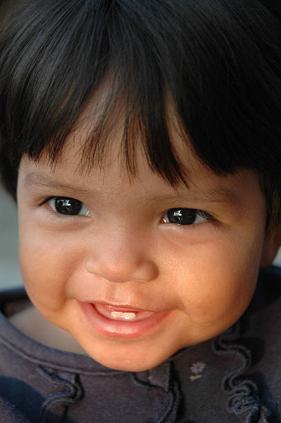 Hispanic Child Smiling stock photo