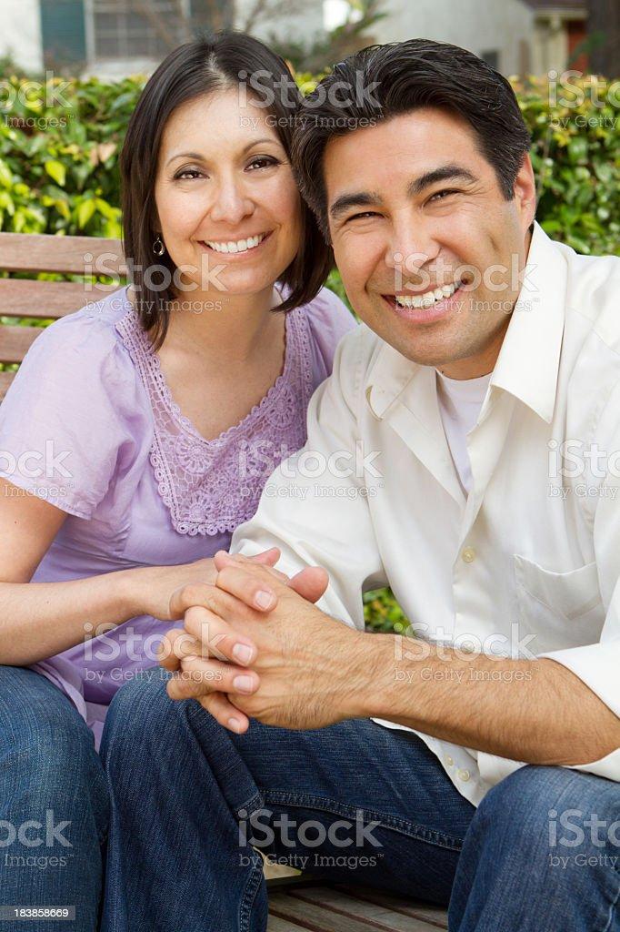 Hispanic Couple royalty-free stock photo