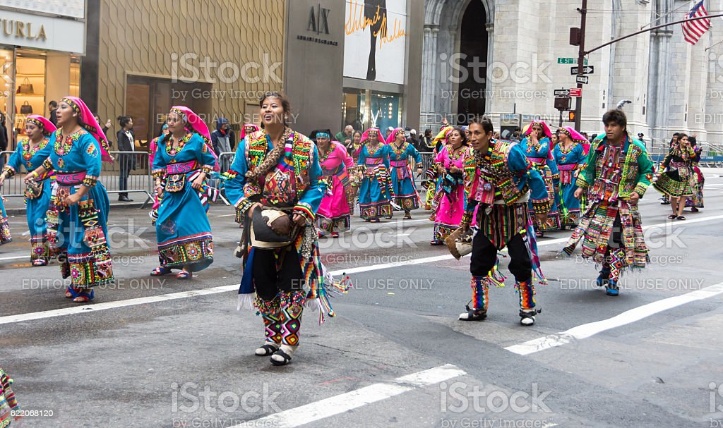 2016 Hispanic Day Parade in New York stock photo