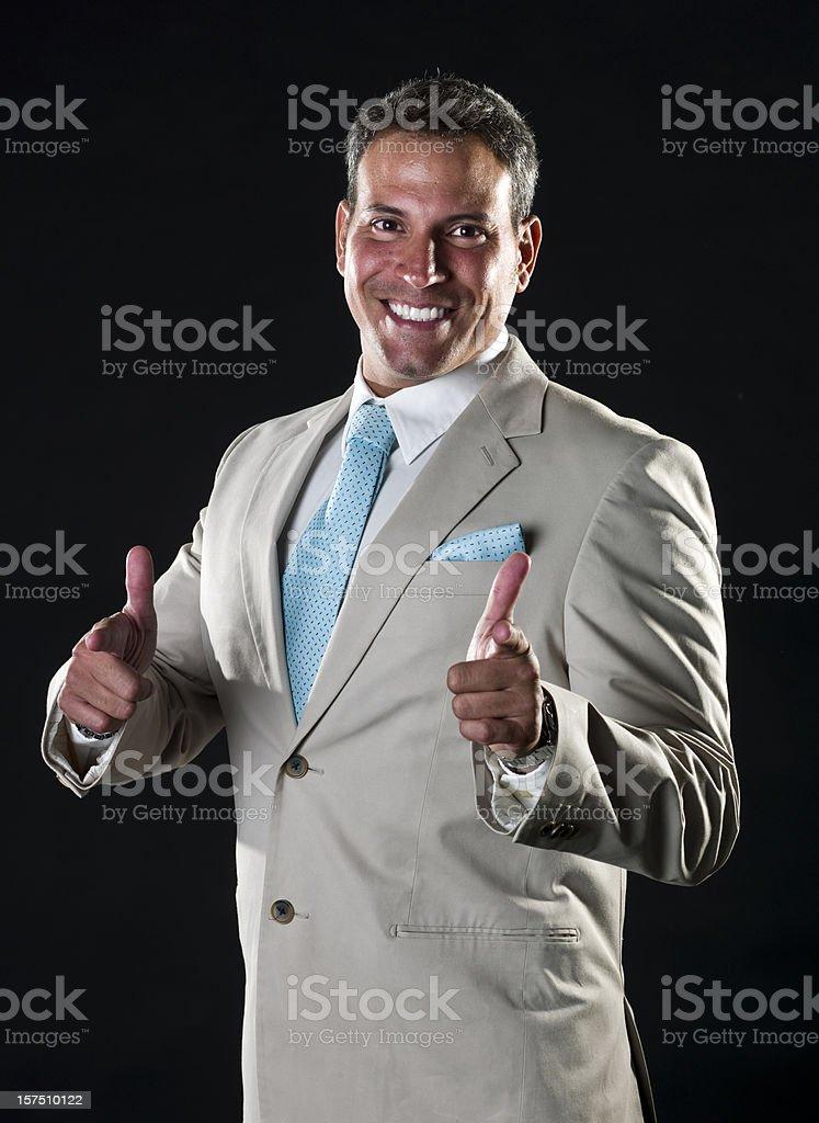 hispanic executive pointing at you royalty-free stock photo