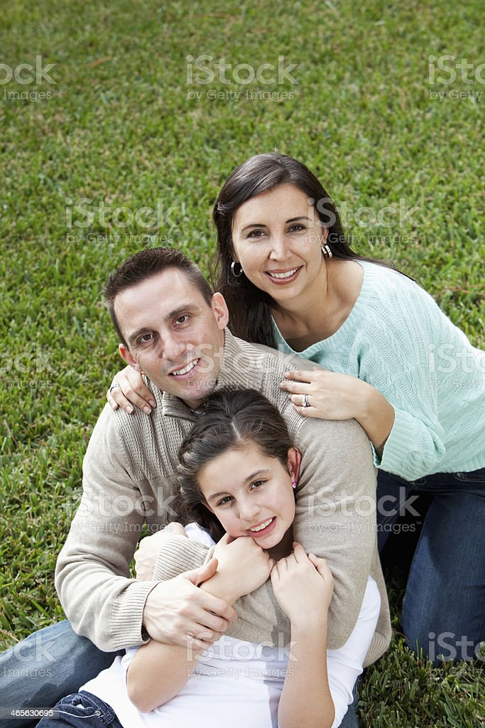 Hispanic family royalty-free stock photo