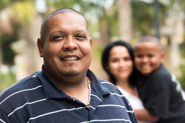 Hispanic family stock photo